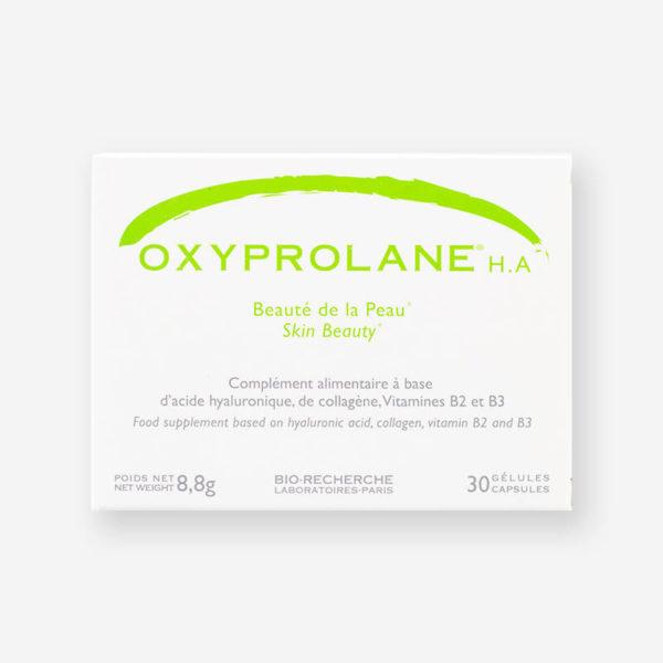 Boîte Oxyloprane HA- Beauté de la peau- 30 gélules- Laboratoires Biorecherche