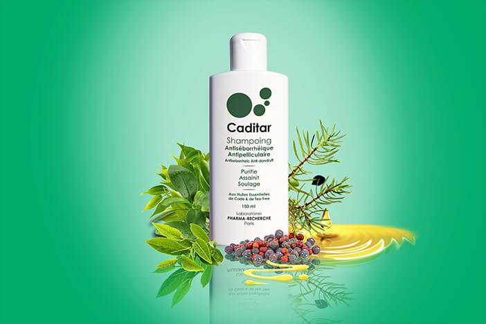 Caditar shampoing Antiseborrhéique et Antipelliculaire- Laboratoires Biorecherche