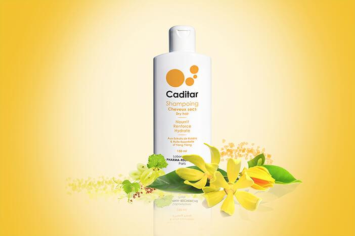 Caditar shampoing cheveux secs Laboratoires Biorecherche